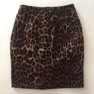 xxi Animal Print Pencil Skirt with Pockets S/P